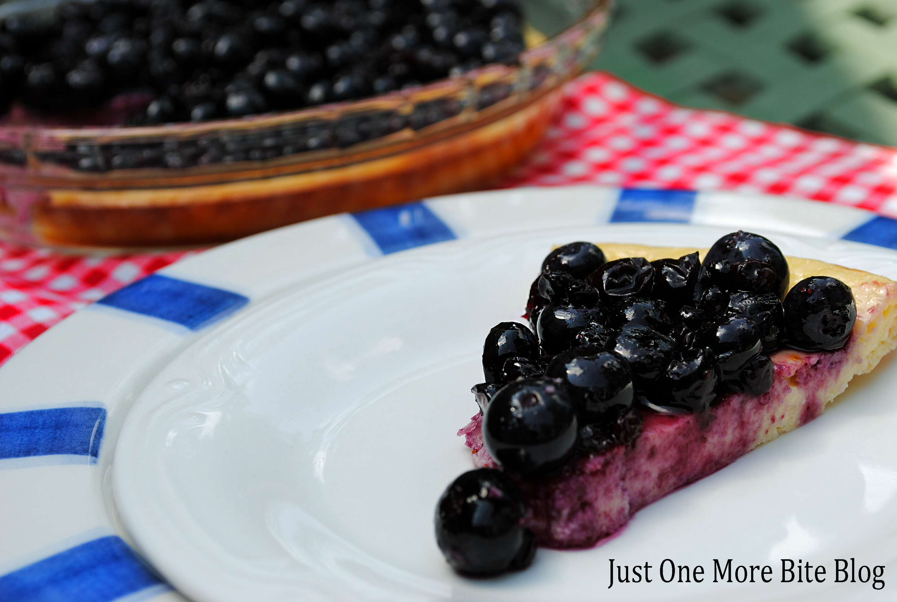 Blueberry Cream Cheese Pie | Just One More Bite